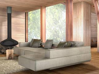 Inhabit Tree House, Woodstock, New York Modern living room by antonygibbondesigns Modern