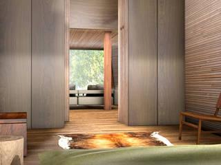 Inhabit Tree House, Woodstock, New York Modern style bedroom by antonygibbondesigns Modern