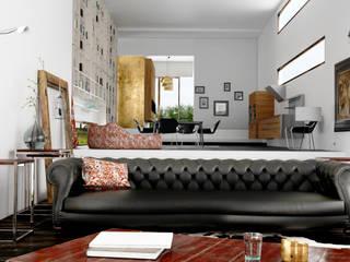 Гостиная в . Автор – New Home Agency, Модерн