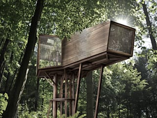 Inhabit Tree House, Woodstock, New York Modern houses by antonygibbondesigns Modern