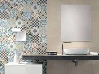 Cementine 20 e Black & White - Fioranese: Bagno in stile  di Ceramiche Addeo