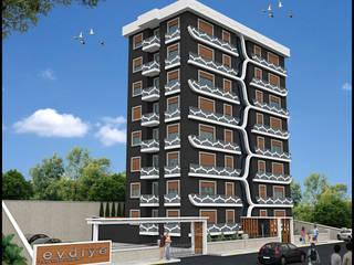 EVDİYE KONUT PROJESİ Modern Evler HERA Mimarlık & İçmimarlık Modern
