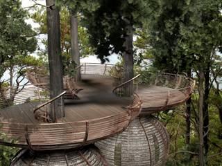 Roost Tree House Balcones y terrazas de estilo moderno de antonygibbondesigns Moderno