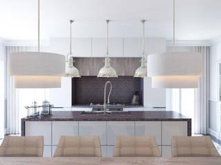 Część dzienna - jadalnia, kuchnia: styl , w kategorii Kuchnia zaprojektowany przez ADV Design