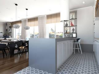 Apartament 115 m2 Klasyczna kuchnia od ADV Design Klasyczny