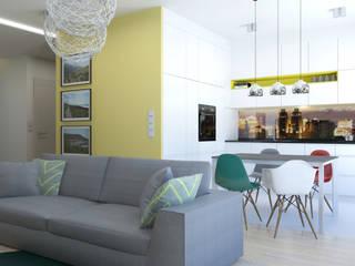 Mieszkanie 76 m2 Skandynawska kuchnia od ADV Design Skandynawski