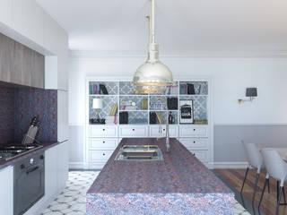Część dzienna -  kuchnia: styl , w kategorii Kuchnia zaprojektowany przez ADV Design