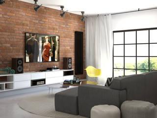 Mieszkanie 87 m2 Industrialny salon od ADV Design Industrialny