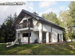 dom pod Łodzią: styl , w kategorii  zaprojektowany przez OPS Architekt Maciej Olczak