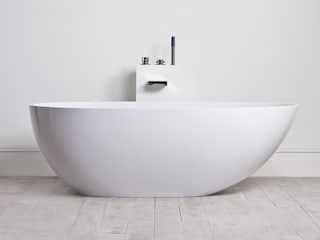 Lusso Stone Egg Shell Solid Surface Freestanding Stone Resin Bath 1700:   by Lusso Stone