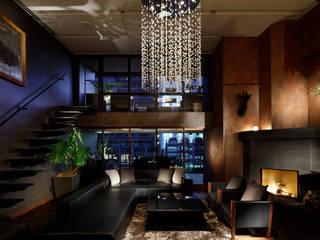 CASA-KARAKARA Modern Living Room by mattch Modern