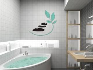Asian style bathroom by designer-wandtattoos.de Asian