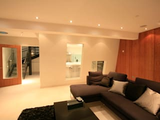 Project 11 Battersea Ruang Media Modern Oleh Flairlight Designs Ltd Modern