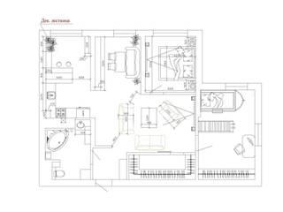 Modern Duvar & Zemin Студия дизайна интерьера 'Золотое сечение' Modern