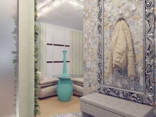 Modern Koridor, Hol & Merdivenler Студия дизайна интерьера 'Золотое сечение' Modern