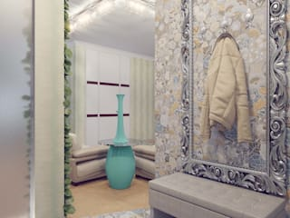 現代風玄關、走廊與階梯 根據 Студия дизайна интерьера 'Золотое сечение' 現代風