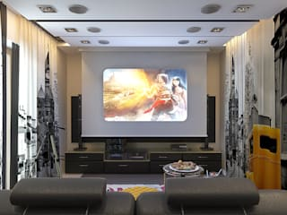 Media room by Your royal design, Eclectic