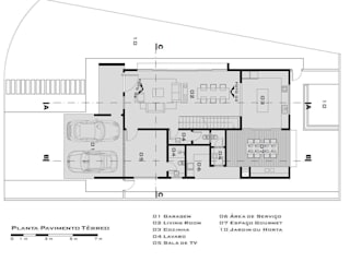 Planta pavimento térreo Tony Santos Arquitetura