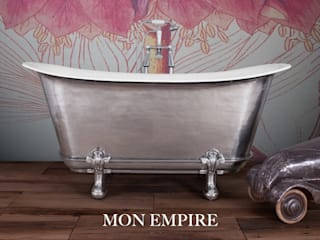 Mon Empire with Feet. Cast Iron Bath with Hand Polished Exterior: classic Bathroom by Hurlingham Baths