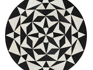 Monochrome contemporary leather rugs, hand made:   by WovenGround