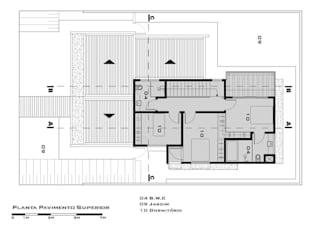First Floor Plan (Planta do pavimento superior) Tony Santos Arquitetura
