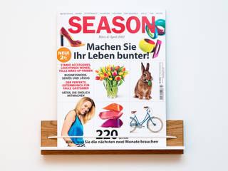Zeitschriftenhalter von klotzaufklotz - Eiche: moderne Arbeitszimmer von klotzaufklotz