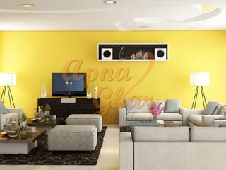 Drawing Room Interior Design Modern living room by ApnaGhar.co.in Modern