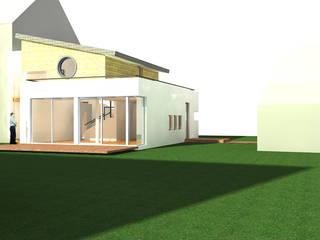 Neubauvorhaben eines Einfamilienhauses: moderne Wohnzimmer von Architekt Capkun