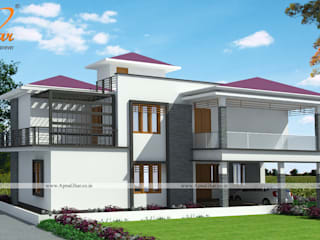 Duplex House Design:   by ApnaGhar.co.in