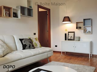 Modern living room by Boite Maison Modern