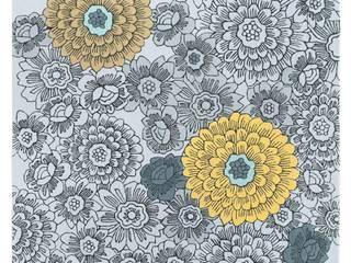 Ochre Florals: modern  by Wendy Morrison, Modern