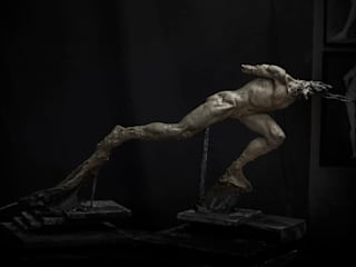 Sculpture - The Walking Man:  de style  par Sculpteur / Interior Designer