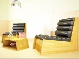 Poltrona Cyl - pelle nera:  in stile  di Architetto Melissa Domenici