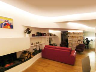 Maison La Villette: Salon de style  par Paul Le Quernec / Architectes