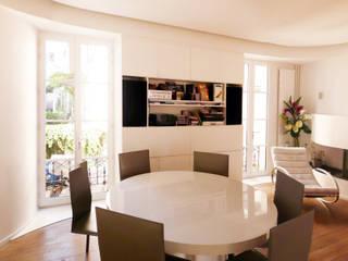 Maison La Villette: Salle à manger de style  par Paul Le Quernec / Architectes