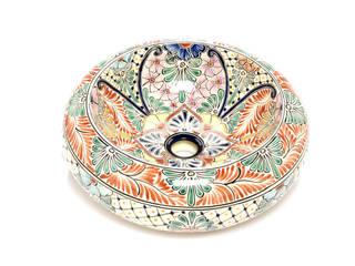 Umywalki nablatowe obłe od Kolory Meksyku Egzotyczny