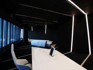 SEDE MUTUA MADRILEÑA Oficinas y tiendas de estilo moderno de CANDIDO HERMIDA N.M Moderno