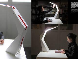 PITAGORA Lamp - Cardboard pushed to the limit Allestimenti fieristici in stile industrial di Patrick Suriani Industrial