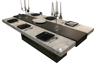 Stone Table:   by Ogle luxury Kitchens & Bathrooms