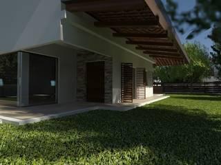 villa bifamiliare: Case in stile in stile Moderno di studio appalti e grafica