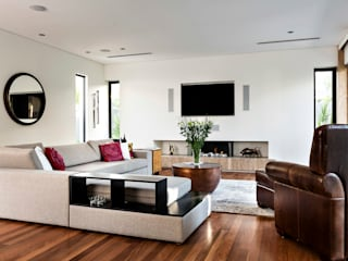 Floreat Residence, Perth, Western Australia 现代客厅設計點子、靈感 & 圖片 根據 Moda Interiors 現代風