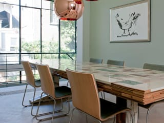 Modern dining room by Kodde Architecten bna Modern