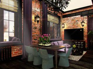 Salas de estilo industrial de Anna Vladimirova Industrial
