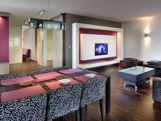 mieszkanie warszawa sadyba Nowoczesny salon od art proces Nowoczesny
