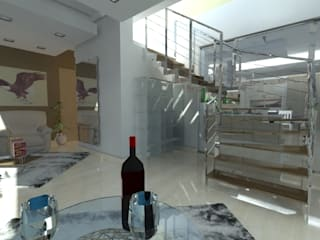 Bodegas de vino de estilo moderno de studio appalti e grafica Moderno