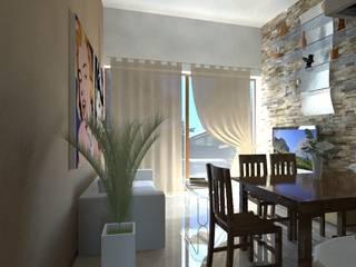 Garage abitabile studio appalti e grafica Cucina in stile rustico