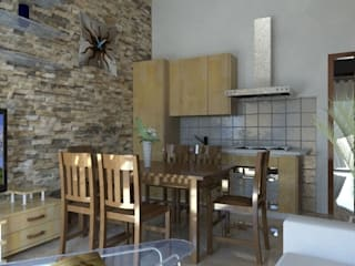 Cocinas de estilo rústico de studio appalti e grafica Rústico