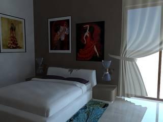 camera da letto: Camera da letto in stile in stile Moderno di studio appalti e grafica