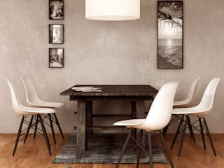 Lunchroom: Sala da pranzo in stile in stile Minimalista di Sferica3D