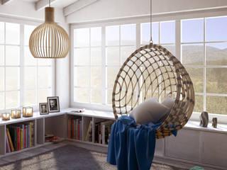 Angolo relax: Soggiorno in stile in stile Rustico di Sferica3D